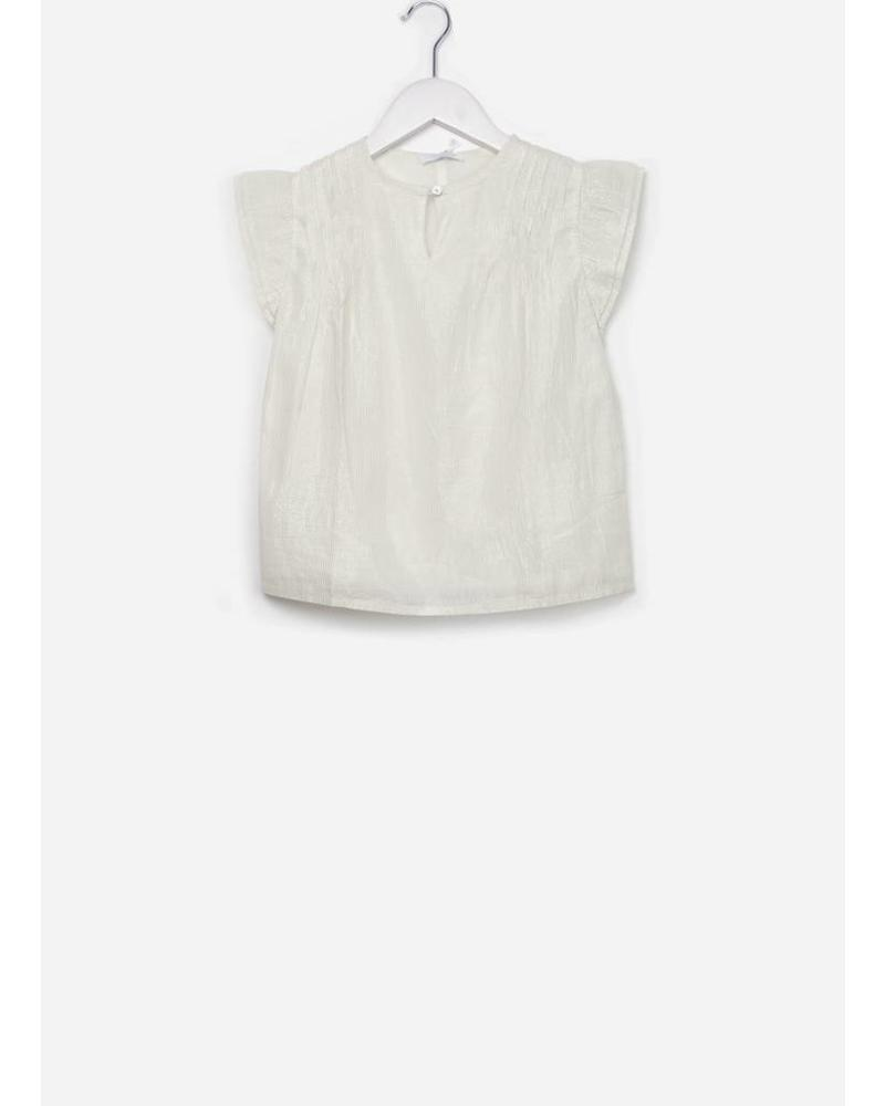 By Bar Alizee lurex top white