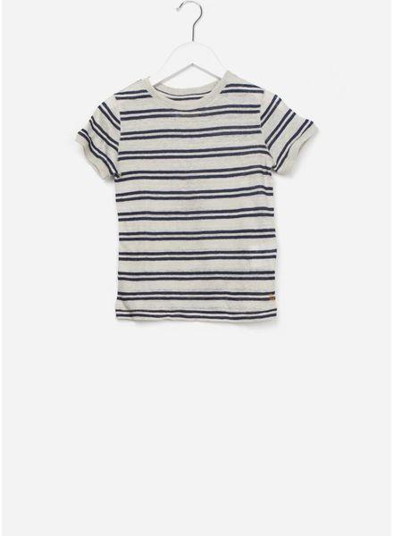Bellerose t-shirt mogo stripe off-white