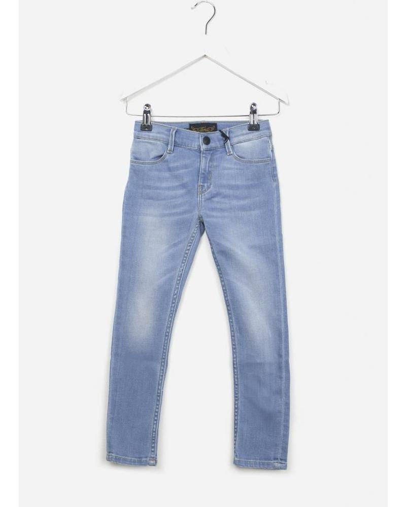 Finger in the nose Tama skinny jeans bleached blue