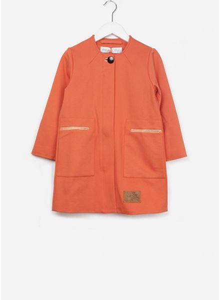 Mon petit Loup Abbie A-lijn jas oranje