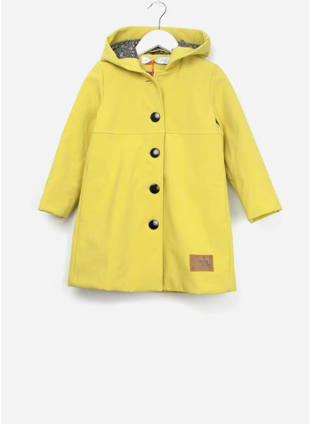 Mon petit Loup Grace A-lijn jas capuchon geel