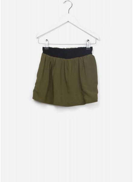 Leoca Skirt double kaki noir