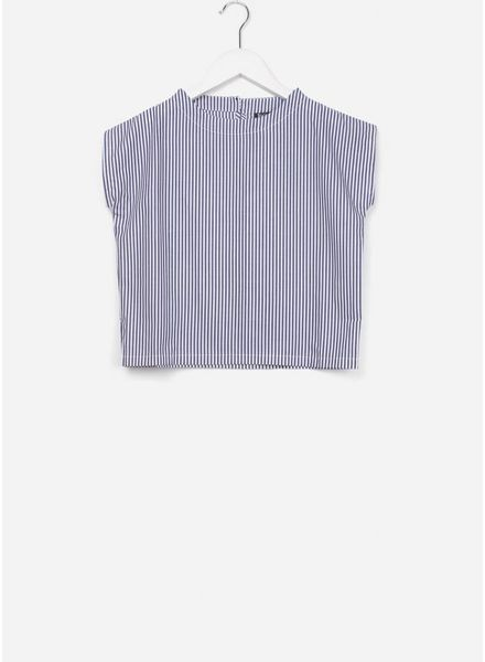 Leoca Top tee shirt jeans stripes