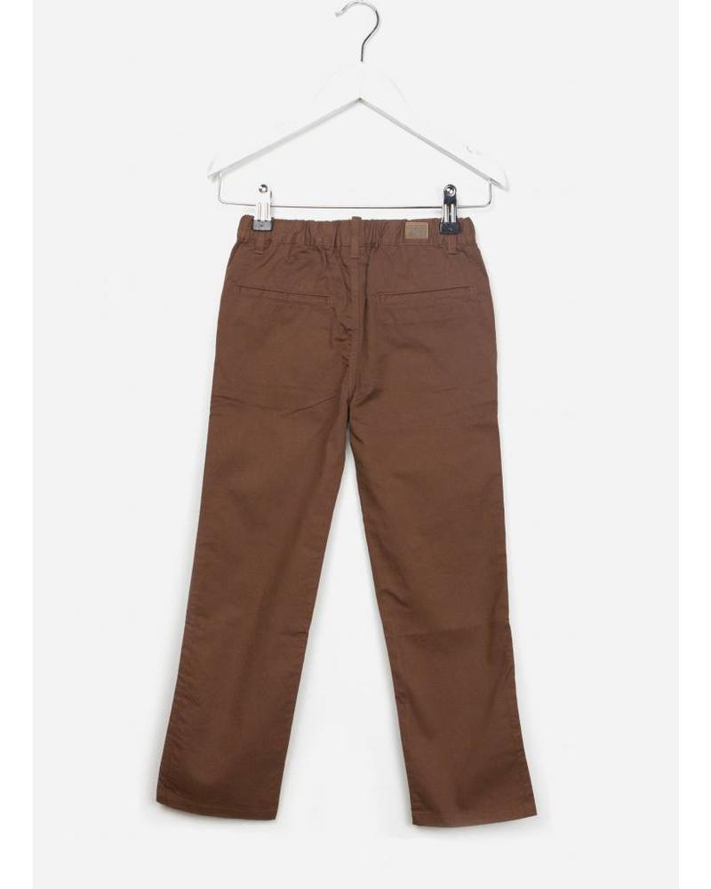 Bonton pantalon garcon marron chocolat
