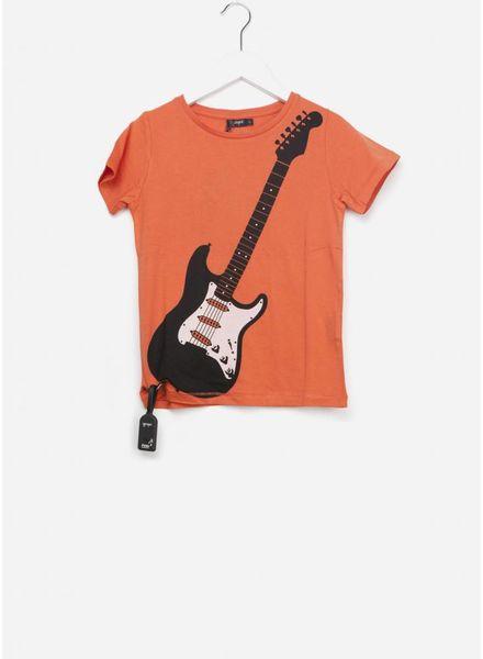 Yporque Air guitar tee paprika