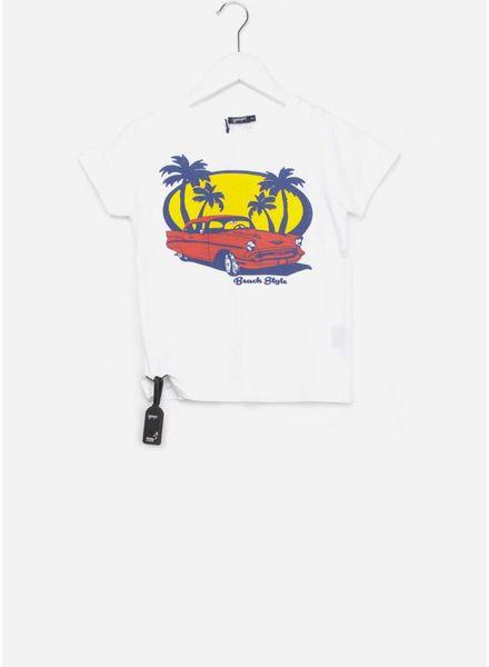 Yporque Retro car tee white