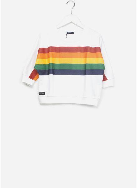 Yporque Rainbow poncho white