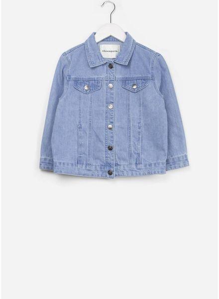 Little Eleven Paris mandy denim jacket light blue