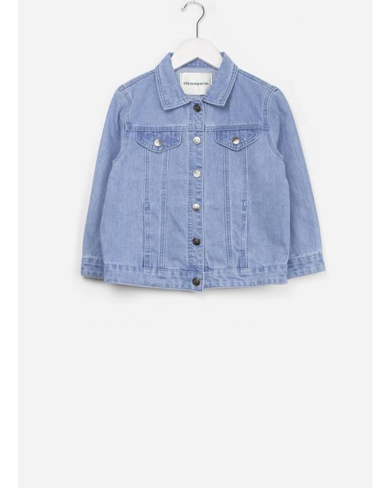 Little Eleven Paris mandy denim jacket kid light blue melange