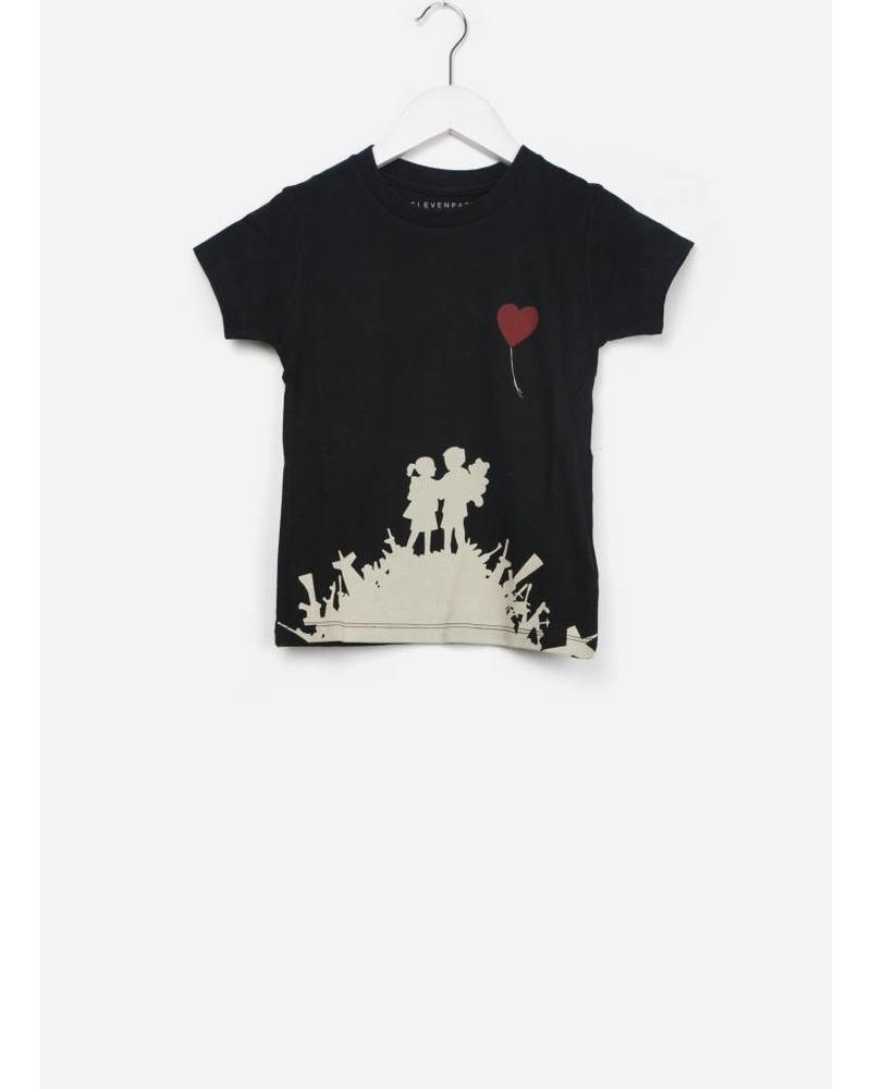 Little Eleven Paris mylove shirt ss black