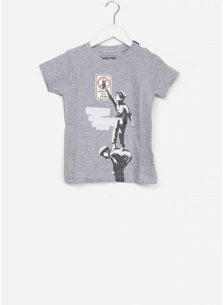 Little Eleven Paris maffiti shirt grey melange