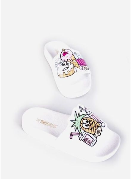 The White Brand Ice cream slippers white