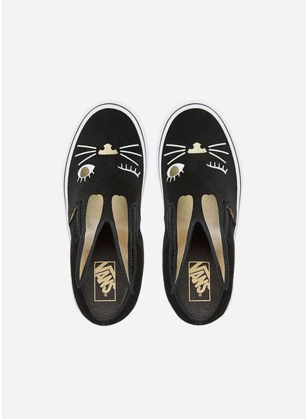 Vans Slip on bunny black gold