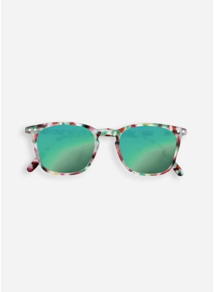 Izipizi Sun #E green tortoise - green mirror lenses