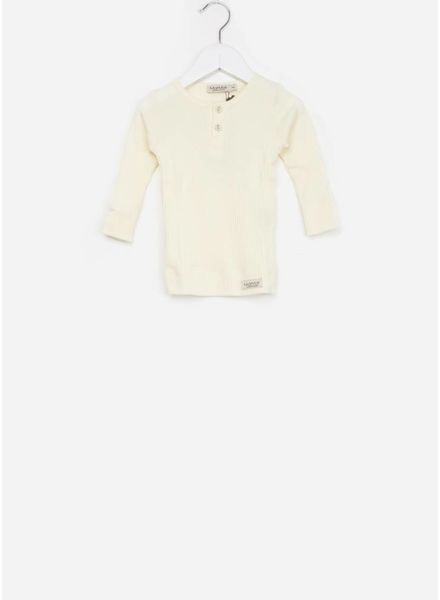 MarMar Copenhagen baby tee modal ls off white