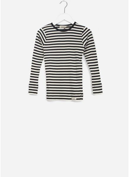 MarMar Copenhagen plain tee ls stripes black / off white