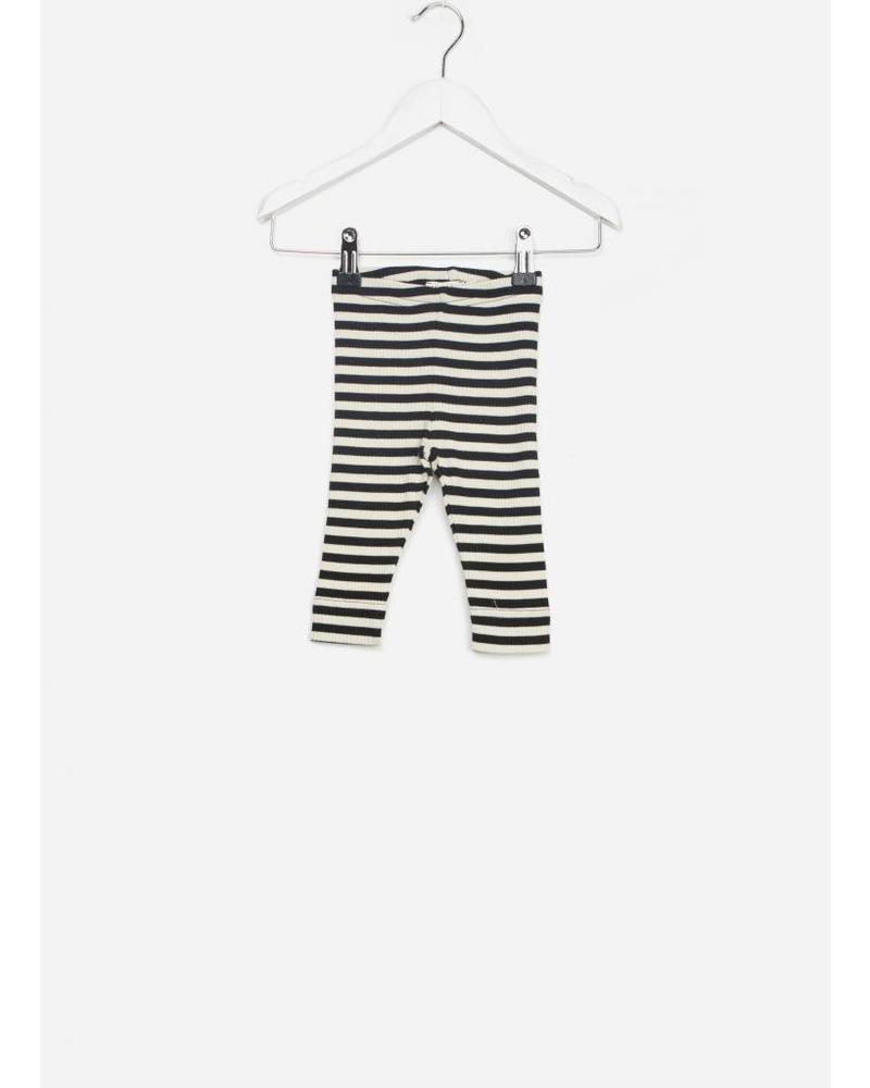 MarMar Copenhagen baby legging stripes black/off white