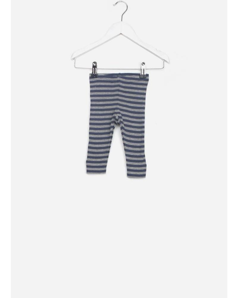 MarMar Copenhagen baby legging stripes blue/grey melange