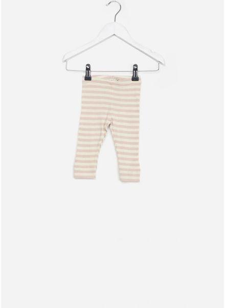 MarMar Copenhagen baby legging stripes rose/offwhite