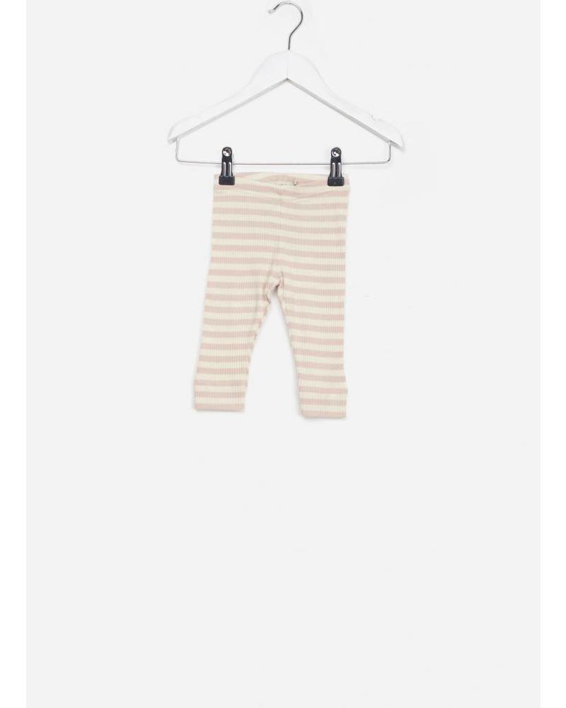 MarMar Copenhagen Baby legging modal stripes rose / offwhite