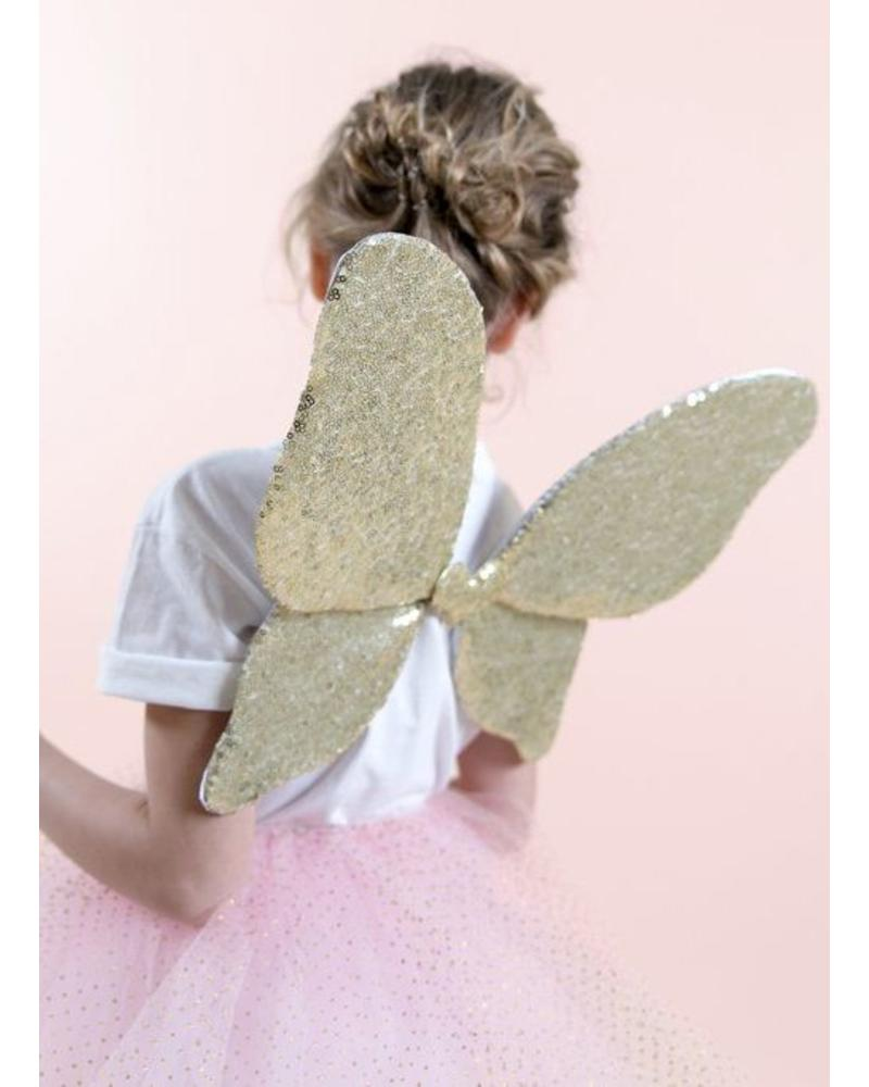 Mimi and Lula sparkle sequin wings gold