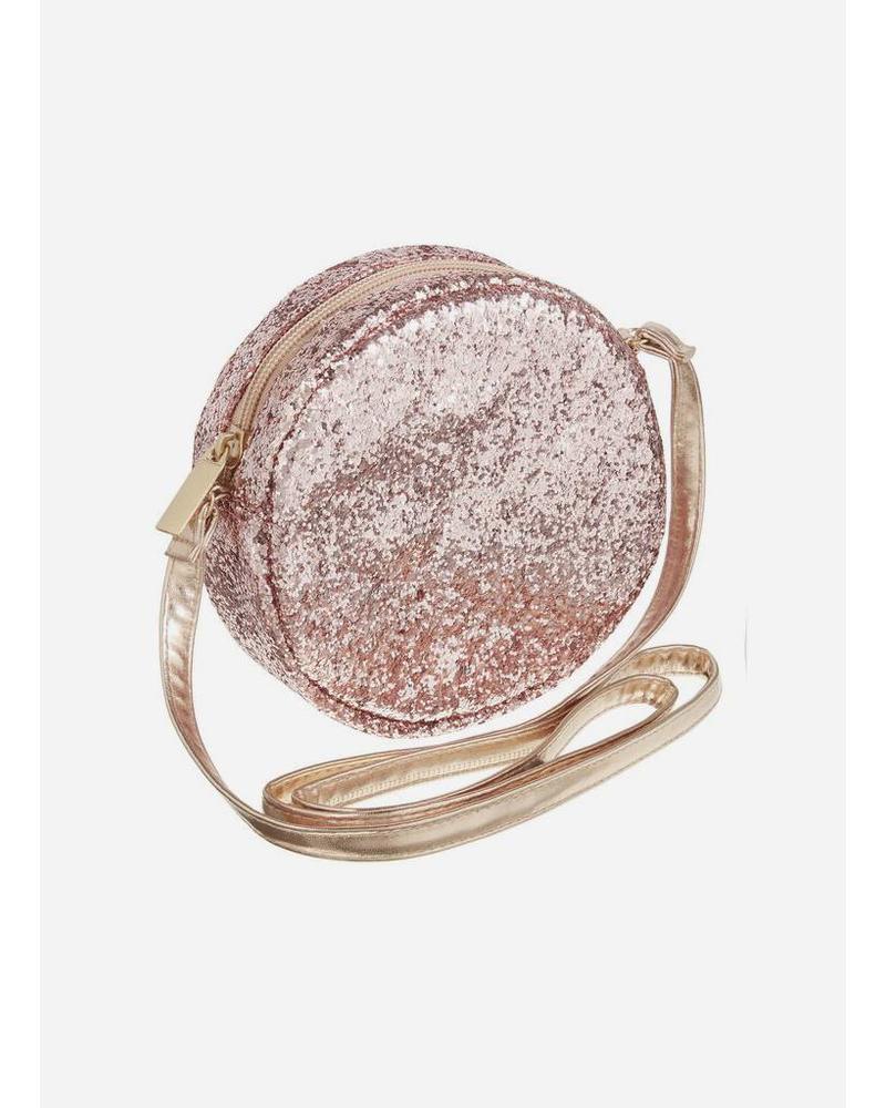Mimi and Lula bag round glitter cross body pink