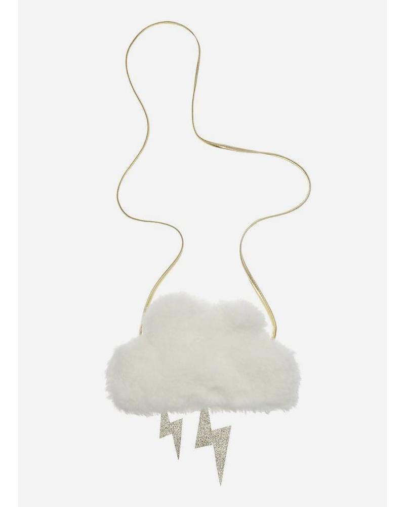 Mimi and Lula bag furry cloud cross body white