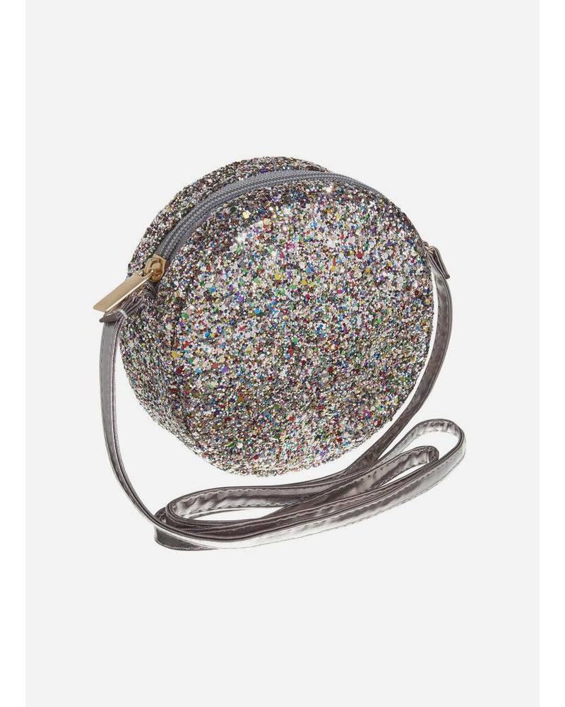 Mimi and Lula bag round glitter cross body haematite