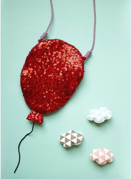 Mimi and Lula bag sequin balloon cross body red
