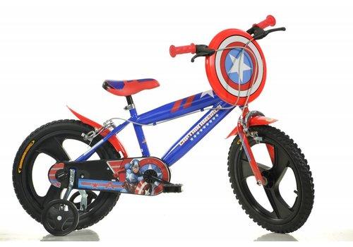 "Dino Captain America Fiets 16"""