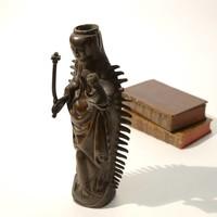 Bronzen maria figuur met stralenkrans