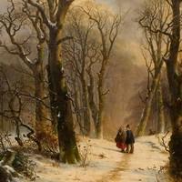 Winterlandschap van F. Breuhaus de Groot.