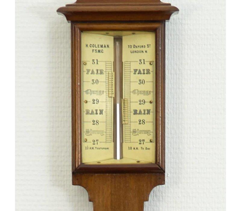 H. Coleman London Stick Barometer