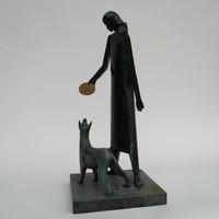 Sjeng Caris - Vrouw met hond
