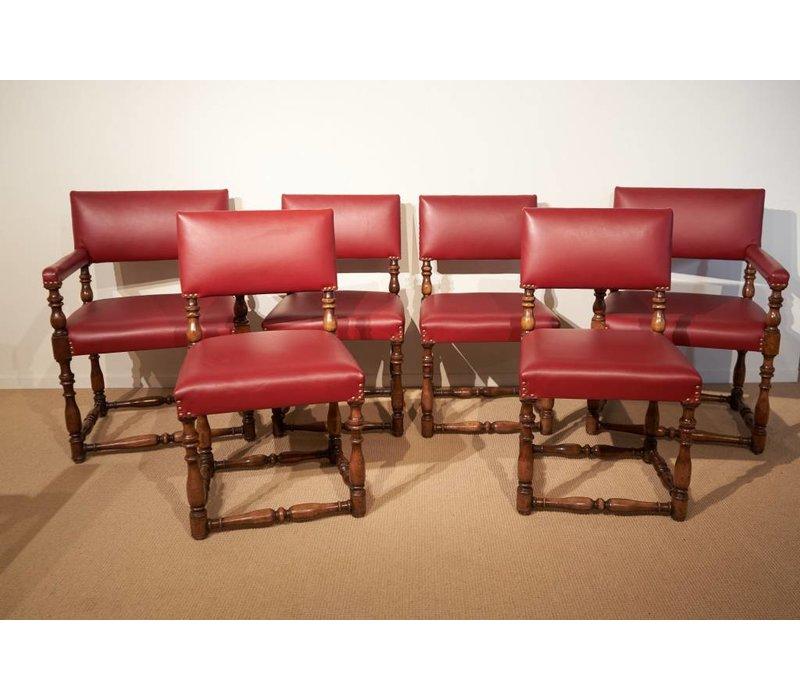 set van 8 stoelen