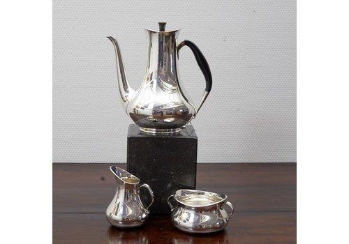 Zilveren 3 delige Koffieset Kopenhagen Cohr