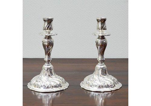 Stel zilveren kandelaars Kopenhagen