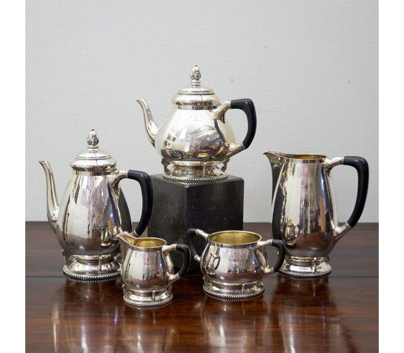 5 delig koffie-theeset Grann & Lakely 1934