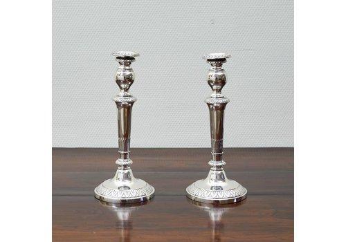 Zilveren kandelaars Kleucher 1810