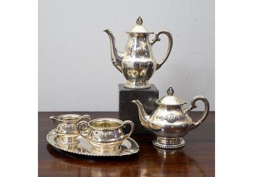 5 delige zilveren koffie-theeset  T.Herse