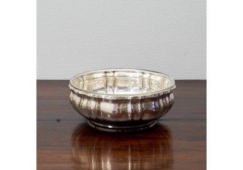 Zilver schaal met glas