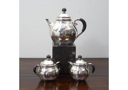3 Delig zilveren theeset van George Jensen