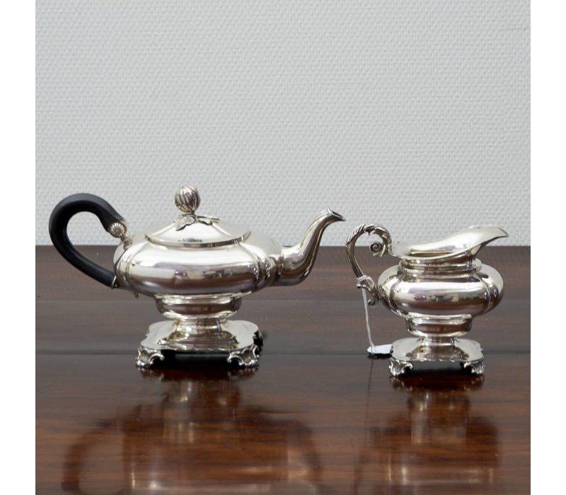 Zilveren theeset G Grevink Amsterdam 1850
