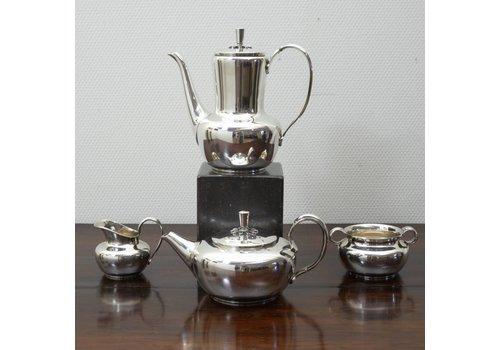 Art Deco zilveren Thee/Koffieset COHR
