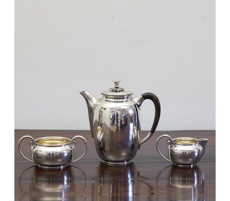 Zilver 3 delig koffieset COHR
