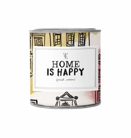 The Gift Label The Gift Label Candle Tin Home is Happy Fresh Cotton S