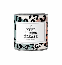 The Gift Label The Gift Label Candle Tin Keep Shinning Please Fresh Cotton L