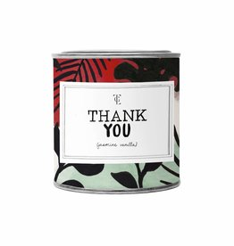 The Gift Label The Gift Label Candle Tin Thank You Fresh Cotton L
