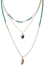 Bulu Bulu Green layered Necklace