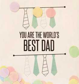 The Gift Label The Gift Label Confetti Card Best dad